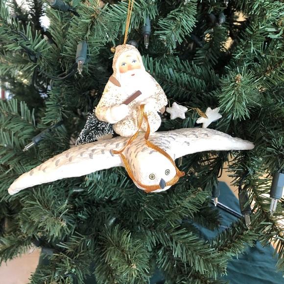 Vintage Dept 56 Father Frost on soaring owl